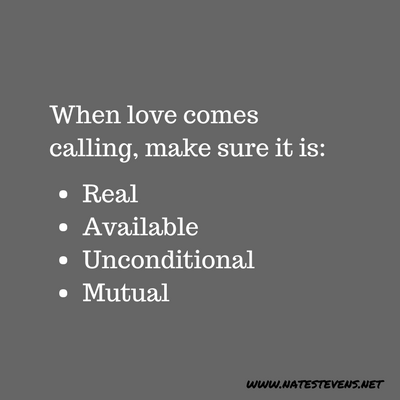 When Love Comes Calling