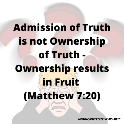 Admission of Truth Is Not Ownership