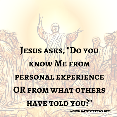22nd Question Jesus Asks (From the Gospel of John)